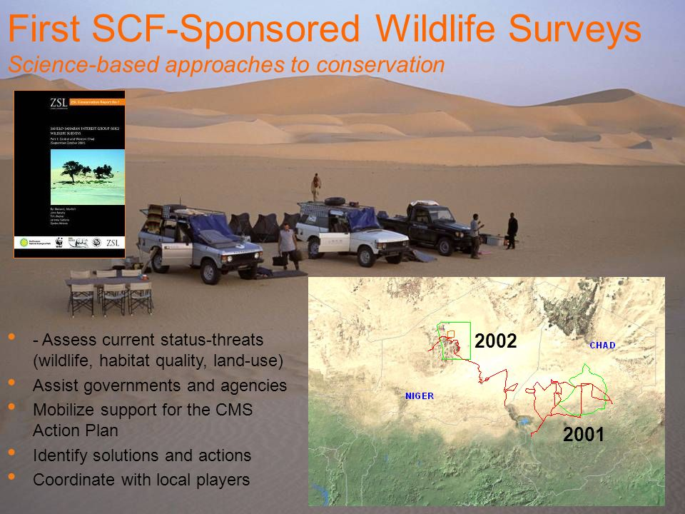 First SCF-Sponsored Wildlife Surveys
