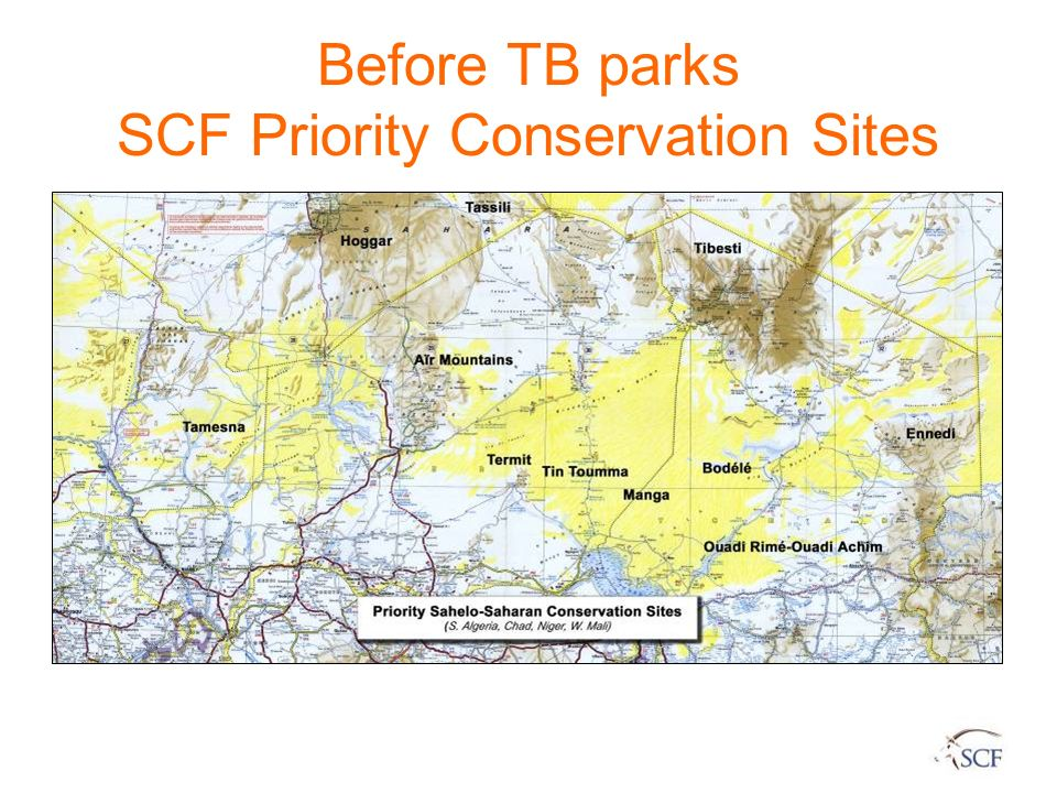 Before TB parks SCF Priority Conservation Sites
