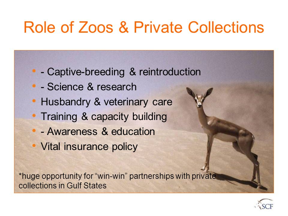 Role of Zoos & Private Collections