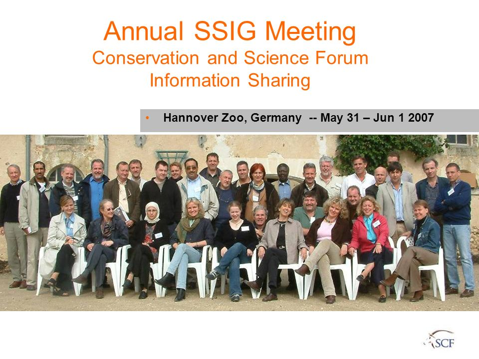 Annual SSIG Meeting Conservation and Science Forum Information Sharing