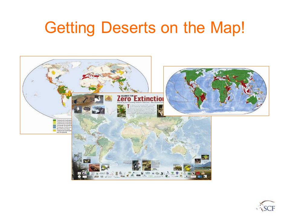 Getting Deserts on the Map!