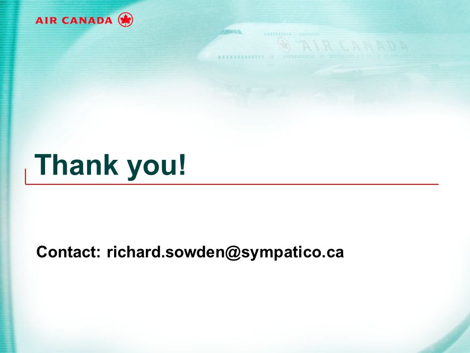 Contact: richard.sowden@sympatico.ca
