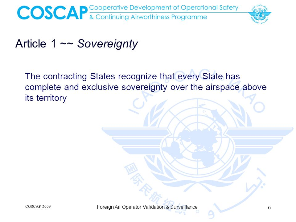 Article 1 ~~ Sovereignty