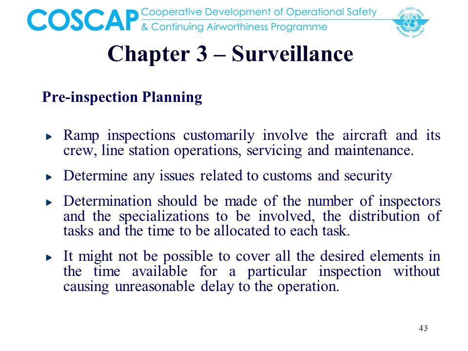 Chapter 3 – Surveillance