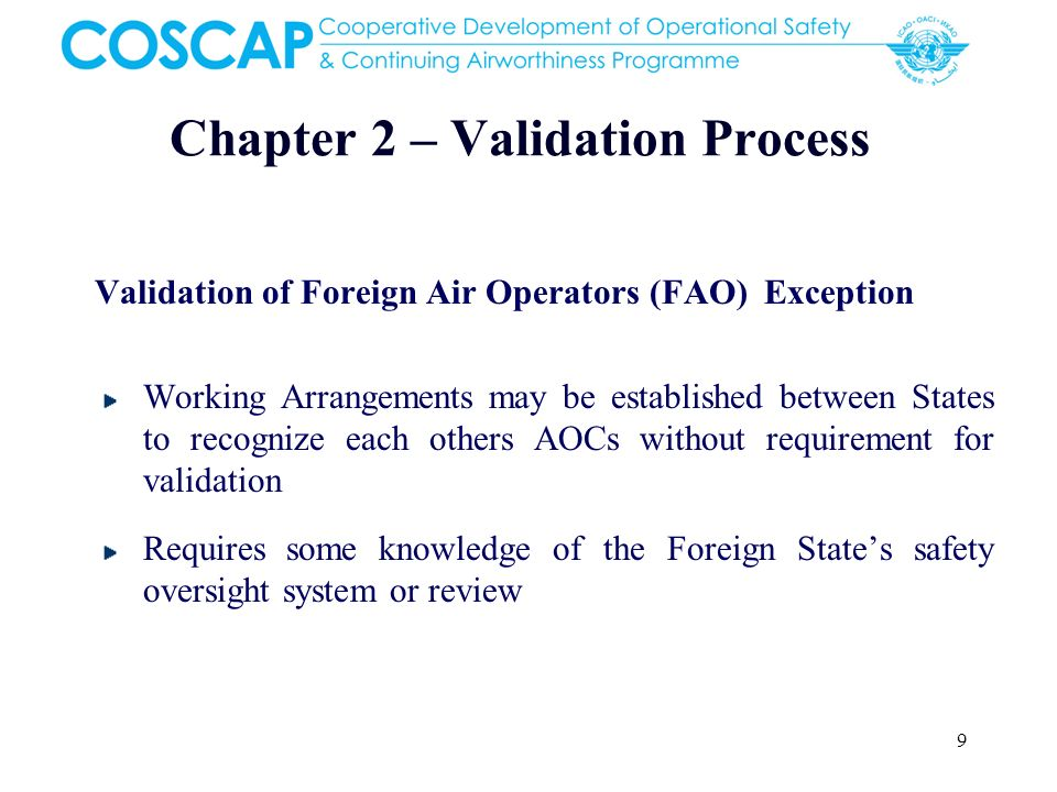 Chapter 2 – Validation Process
