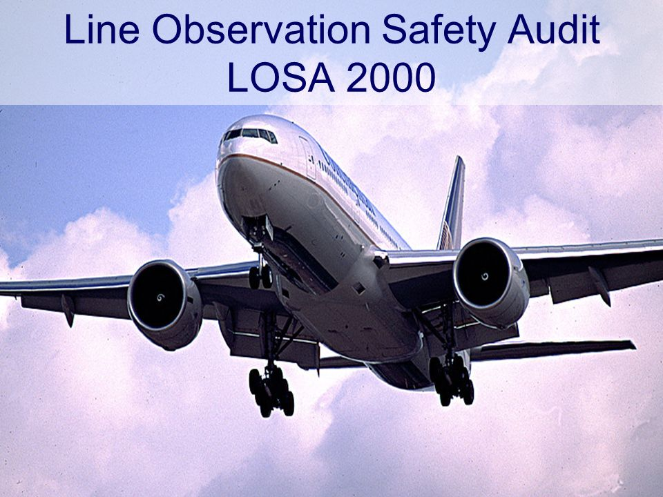 Line Observation Safety Audit LOSA 2000