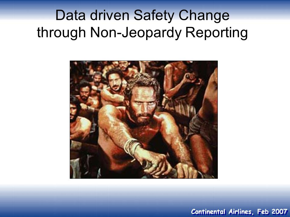 Data driven Safety Change through Non-Jeopardy Reporting