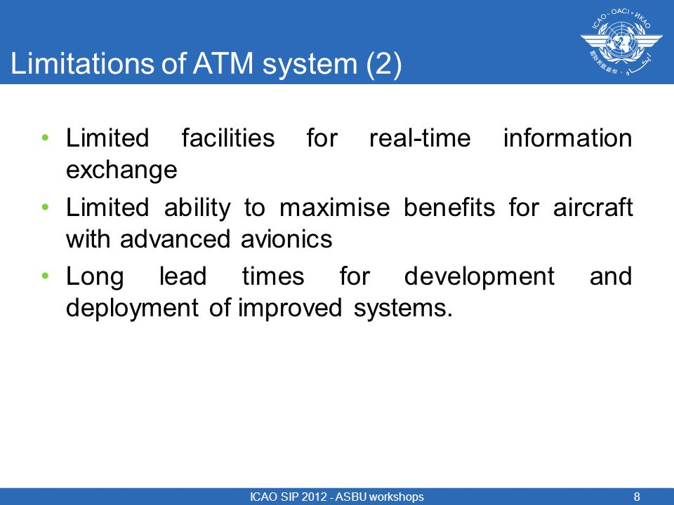 Limitations of ATM system (2)