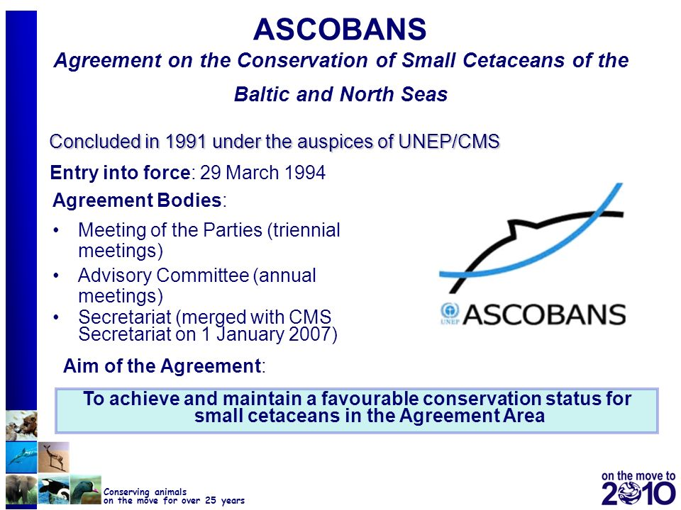 ASCOBANS Agreement on the Conservation of Small Cetaceans of the Baltic and North Seas