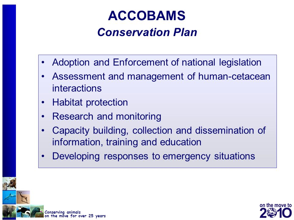 ACCOBAMS Conservation Plan