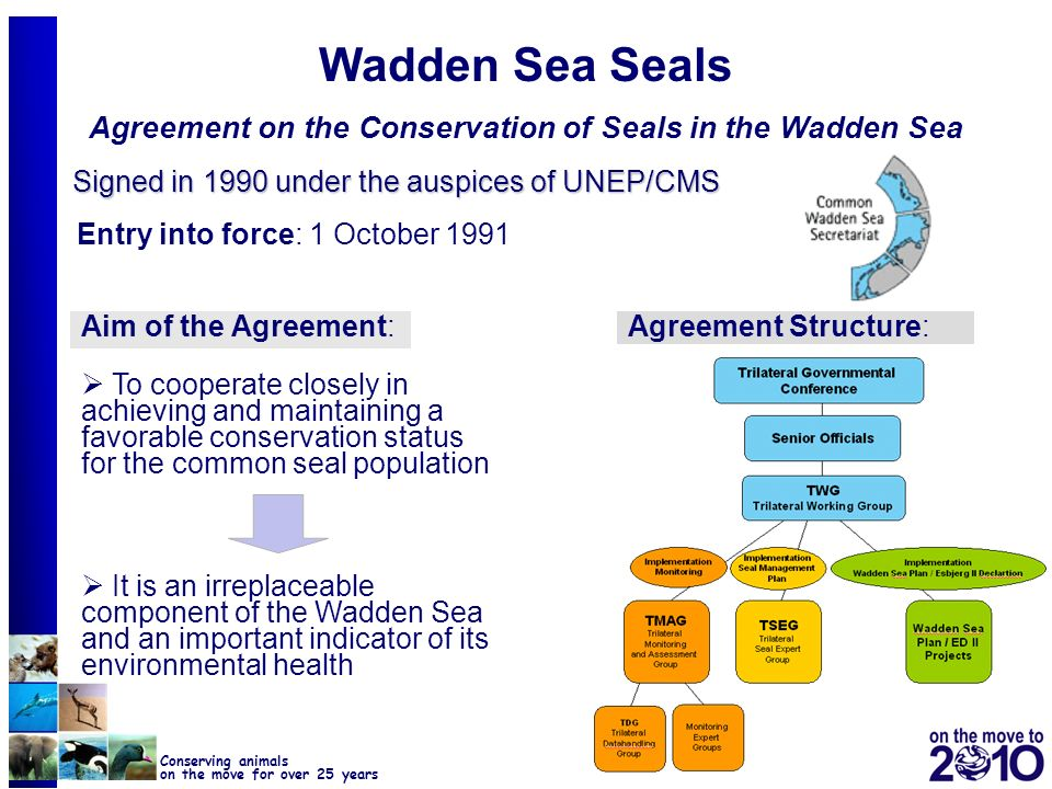 Wadden Sea Seals Agreement on the Conservation of Seals in the Wadden Sea
