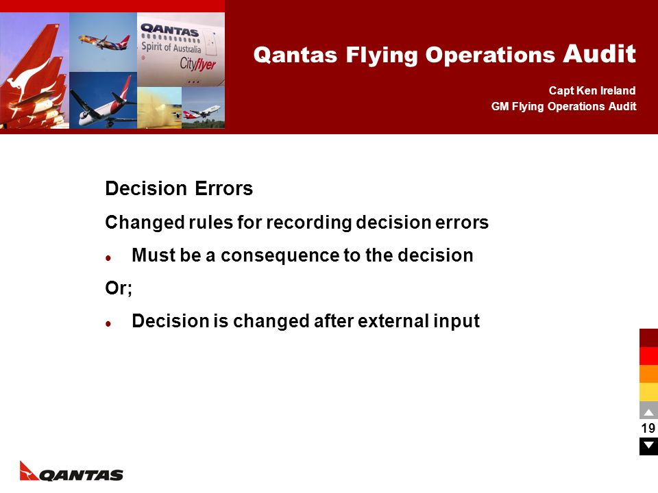 Decision Errors Changed rules for recording decision errors