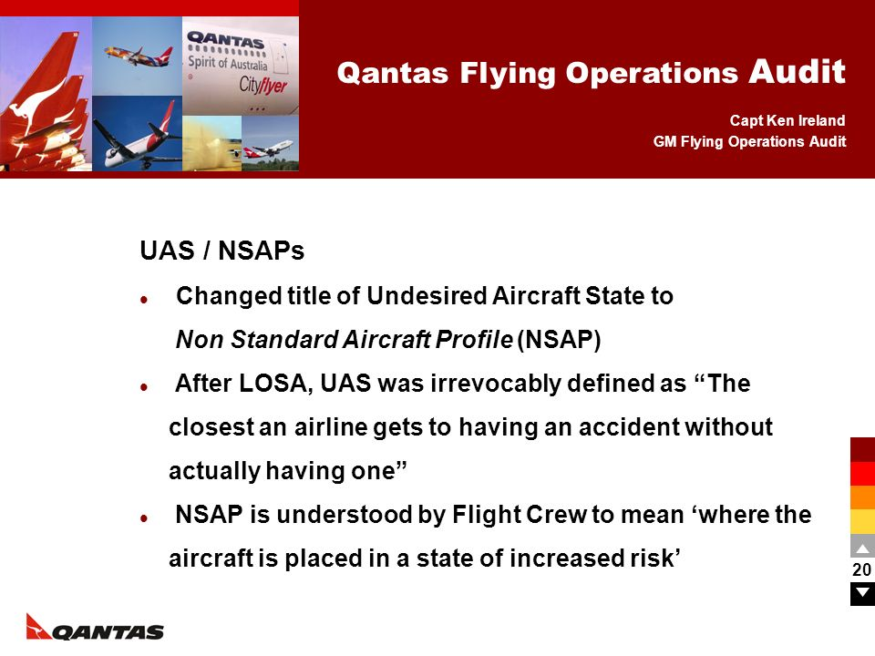 UAS / NSAPs Changed title of Undesired Aircraft State to