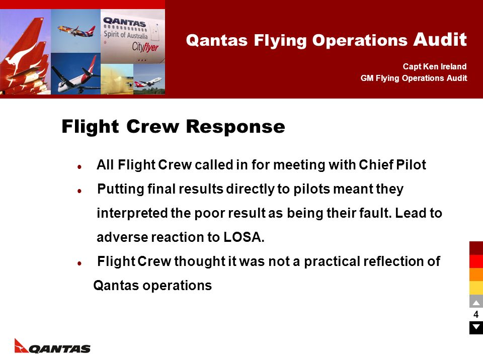 Flight Crew Response All Flight Crew called in for meeting with Chief Pilot.