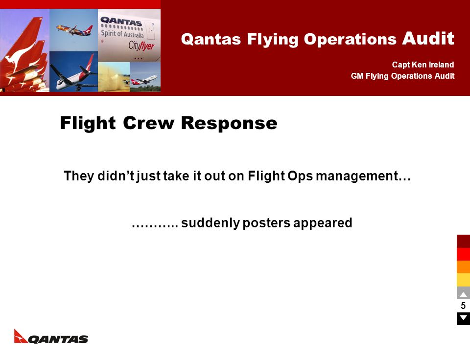 Flight Crew Response They didn't just take it out on Flight Ops management… ………..