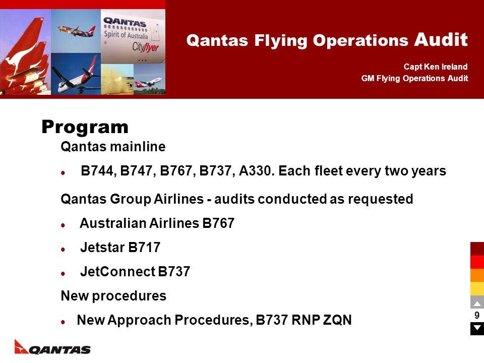 Program Qantas mainline