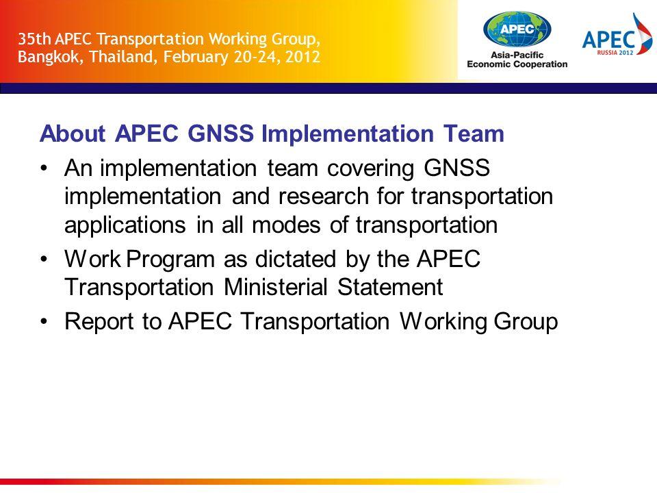 About APEC GNSS Implementation Team