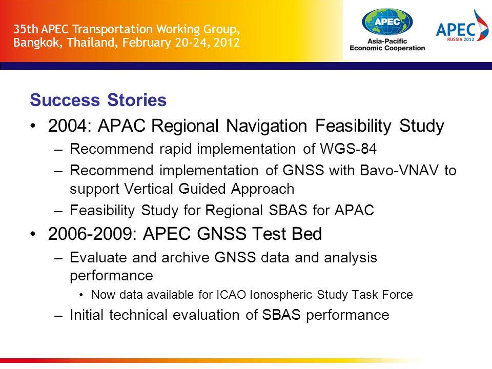 2004: APAC Regional Navigation Feasibility Study