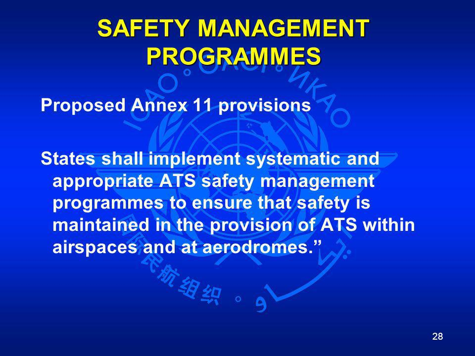 SAFETY MANAGEMENT PROGRAMMES