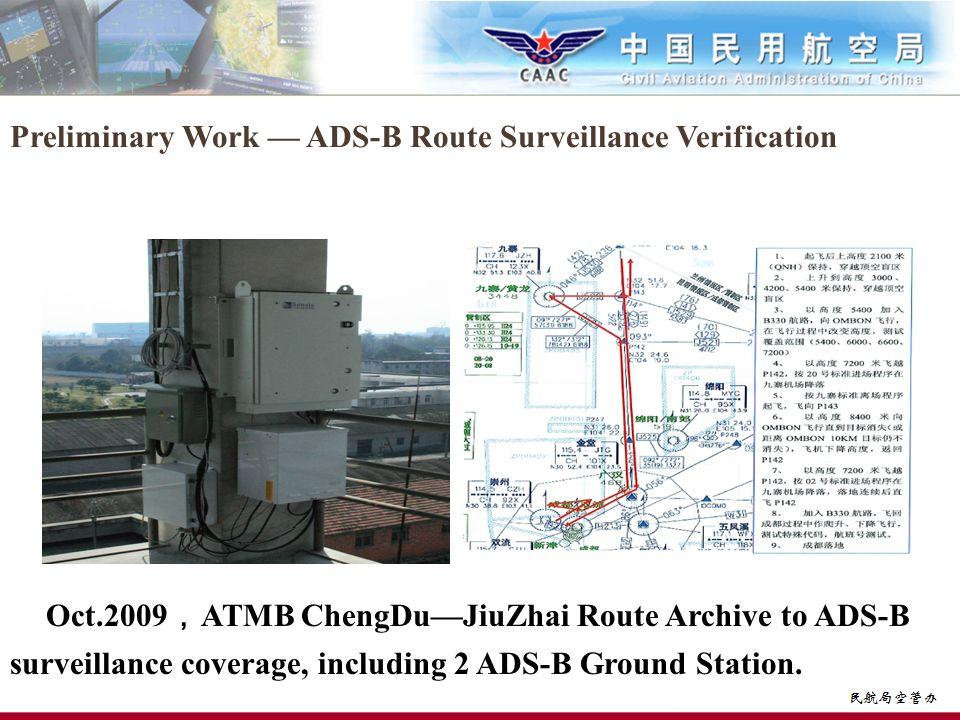 Preliminary Work — ADS-B Route Surveillance Verification