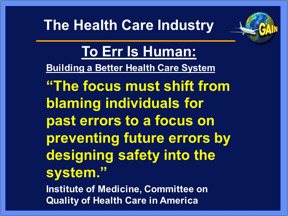 The Health Care Industry