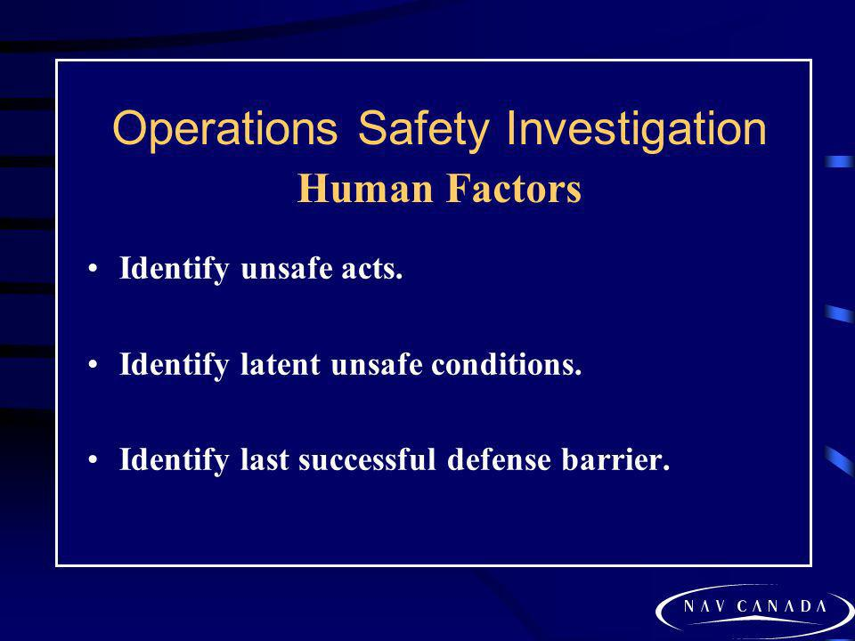 Operations Safety Investigation Human Factors