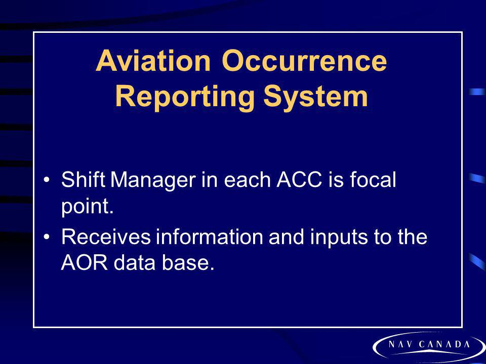 Aviation Occurrence Reporting System