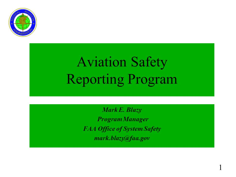 Aviation Safety Reporting Program