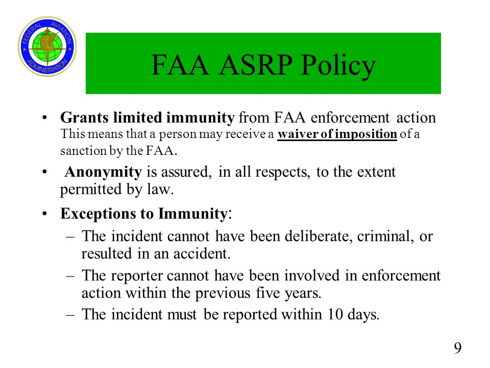 FAA ASRP Policy