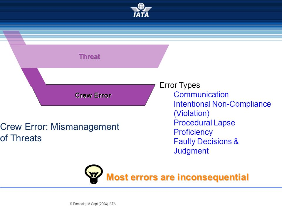 Crew Error: Mismanagement of Threats