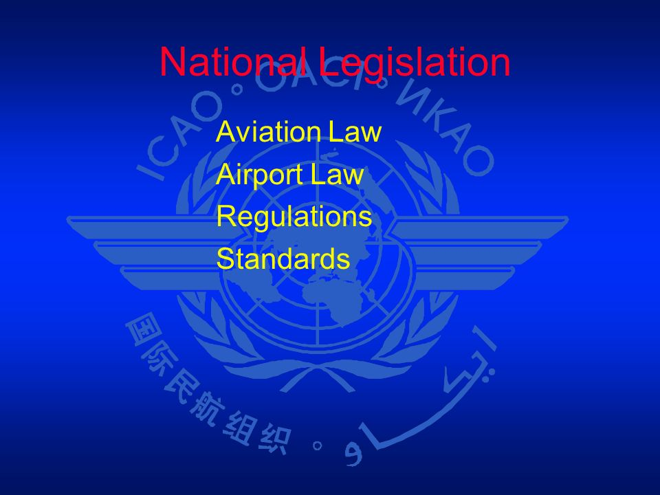 National Legislation Aviation Law Airport Law Regulations Standards 1