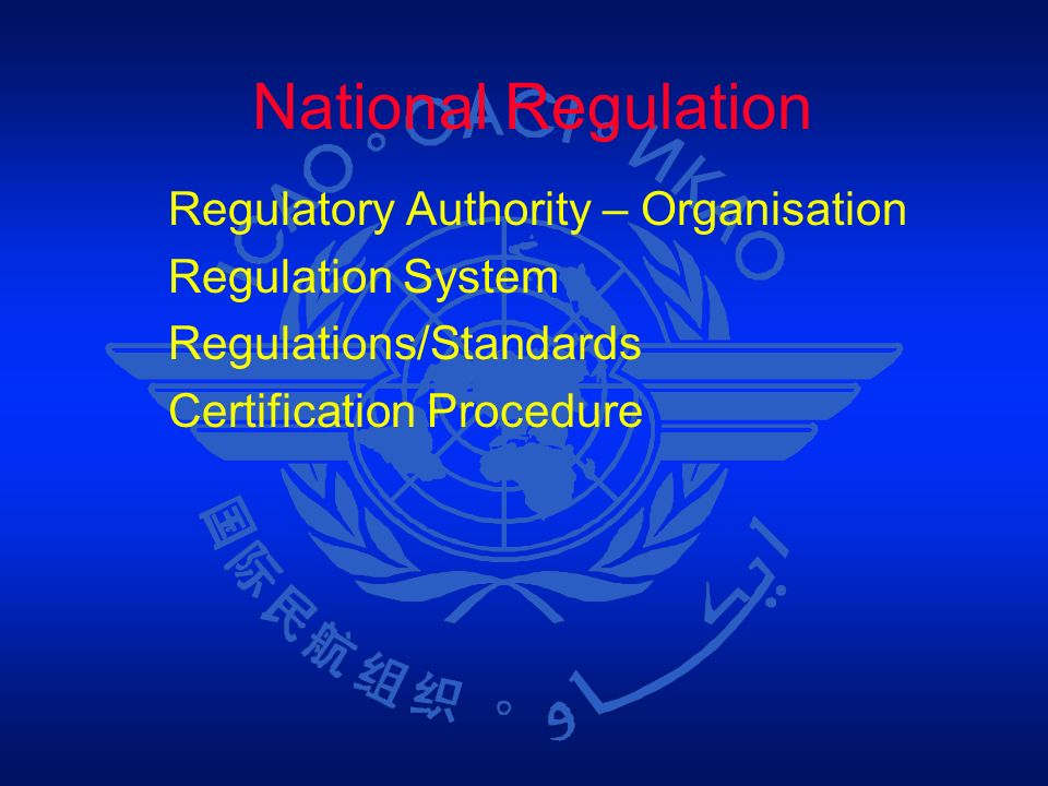 National Regulation Regulatory Authority – Organisation