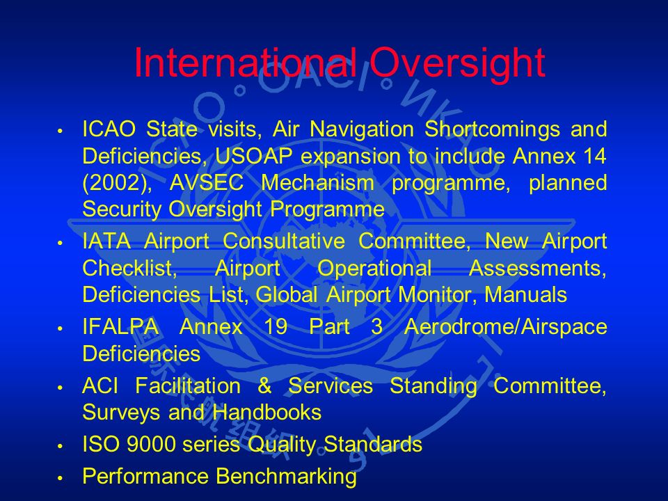 International Oversight