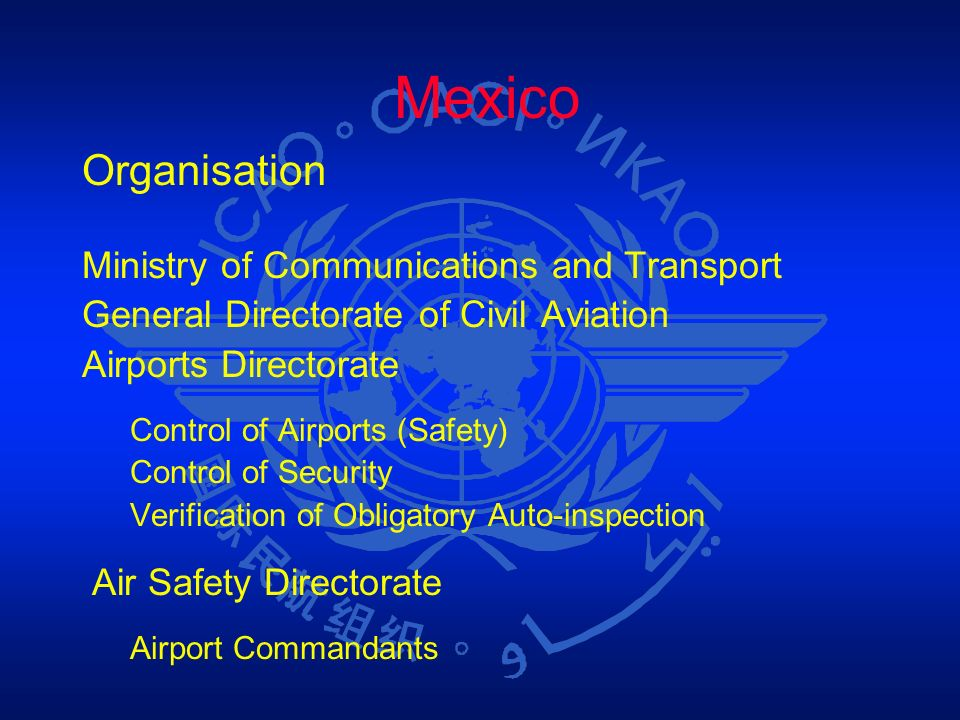 Mexico Organisation Ministry of Communications and Transport