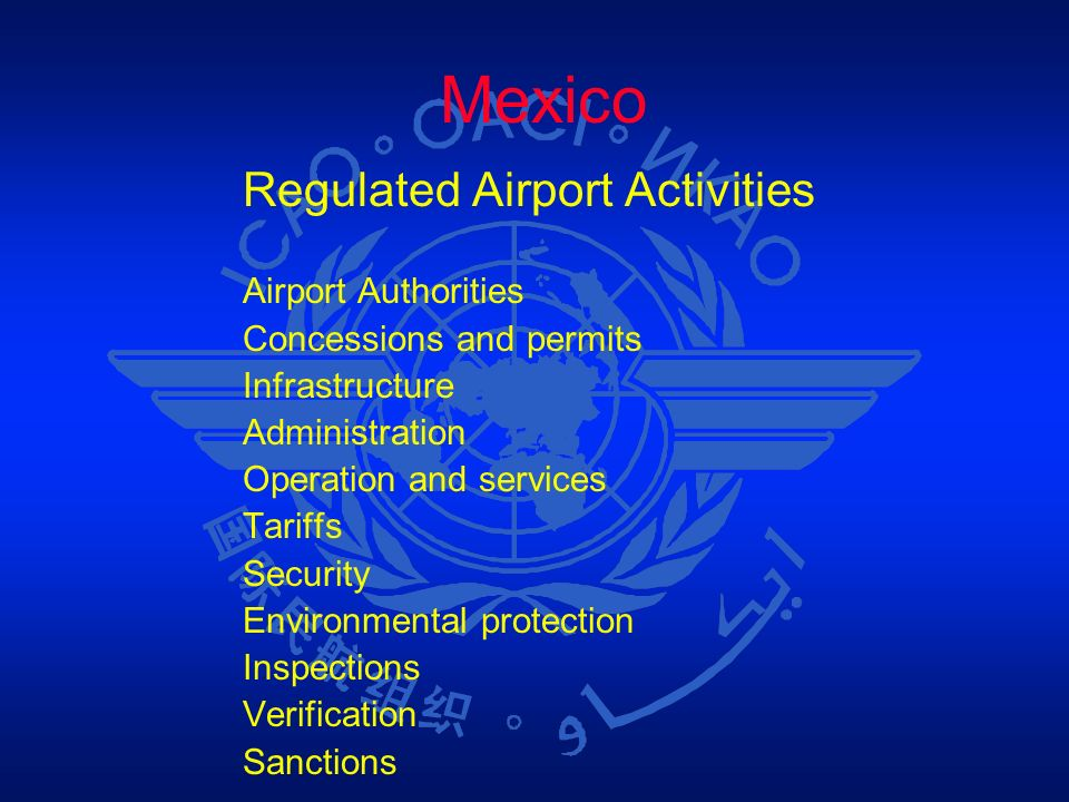 Mexico Regulated Airport Activities Airport Authorities