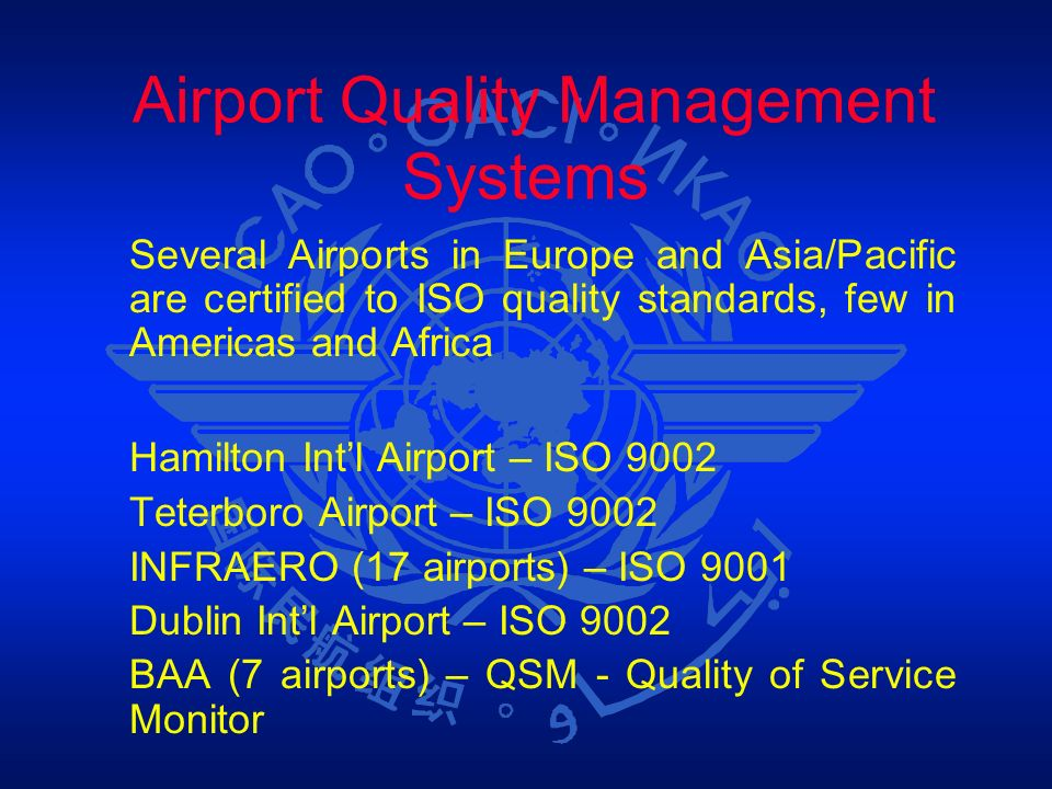 Airport Quality Management Systems