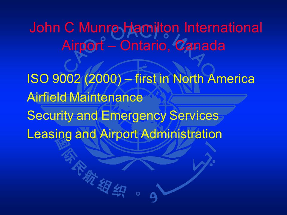John C Munro Hamilton International Airport – Ontario, Canada
