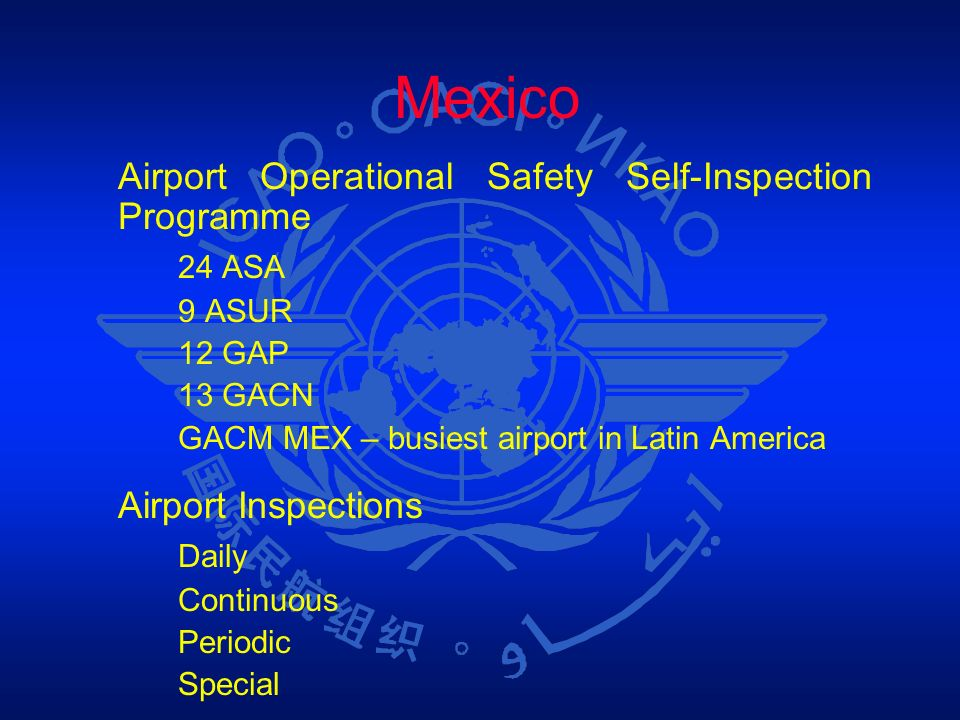 Mexico 24 ASA Airport Inspections Daily