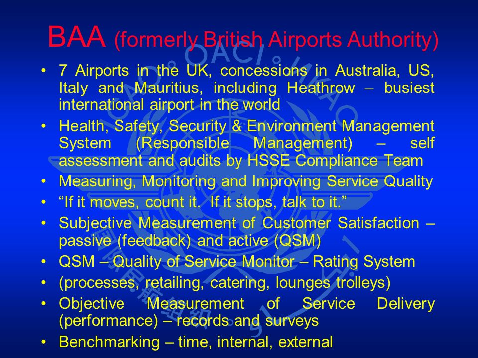 BAA (formerly British Airports Authority)