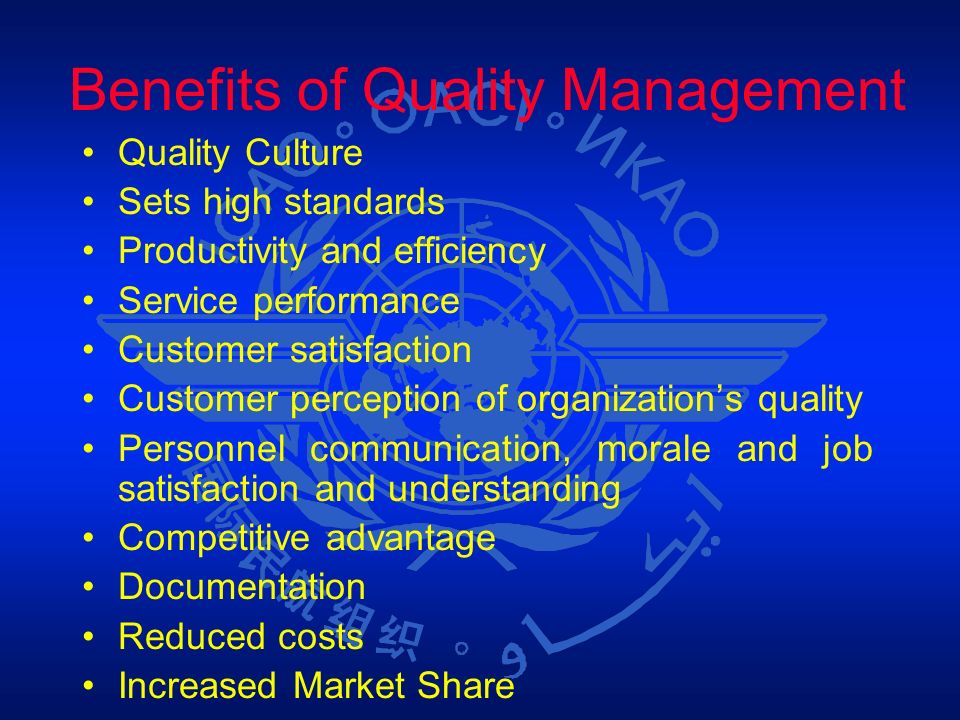 Benefits of Quality Management