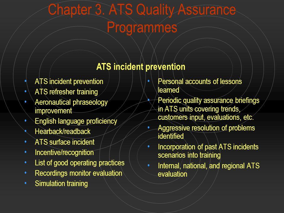 Chapter 3. ATS Quality Assurance Programmes