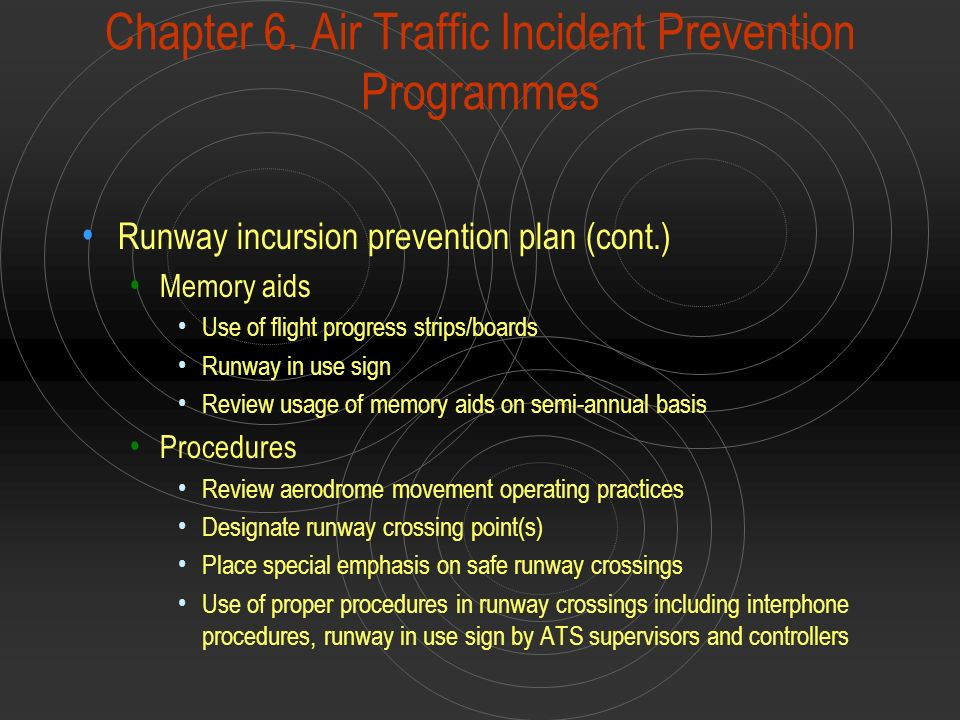 Chapter 6. Air Traffic Incident Prevention Programmes