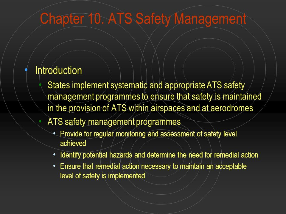 Chapter 10. ATS Safety Management