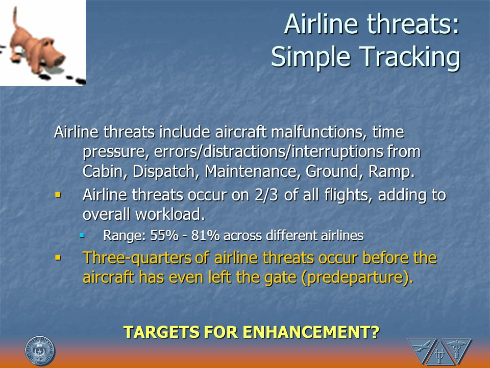 Airline threats: Simple Tracking