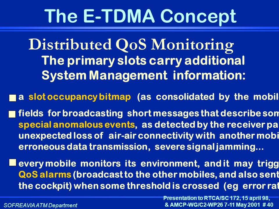 Distributed QoS Monitoring