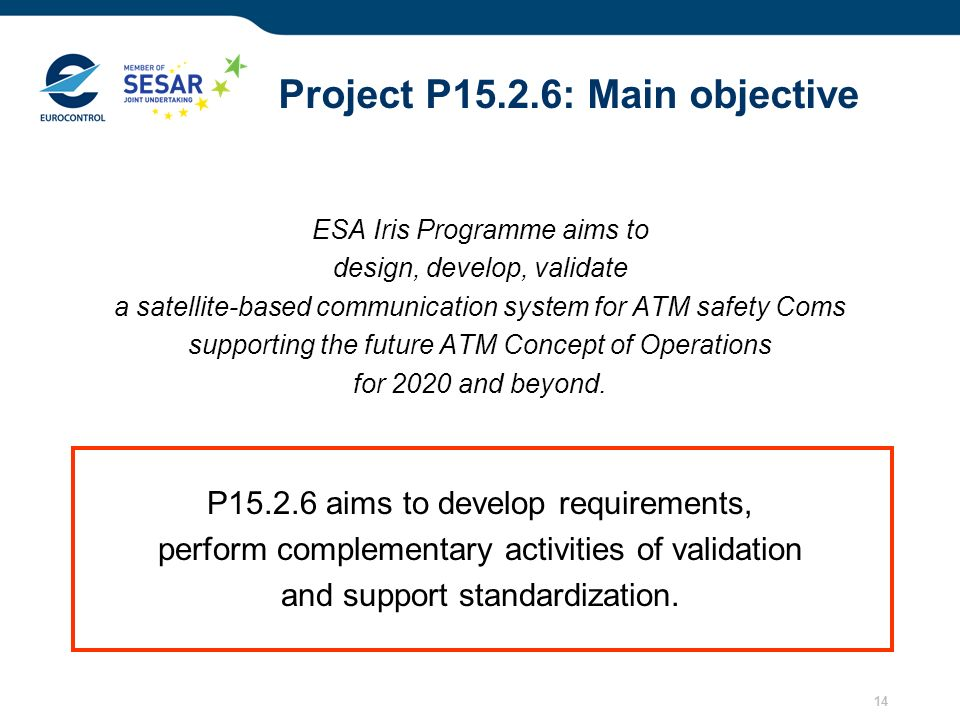Project P15.2.6: Main objective