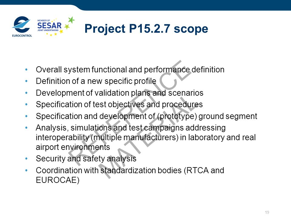 REFERENCE MATERIAL Project P15.2.7 scope