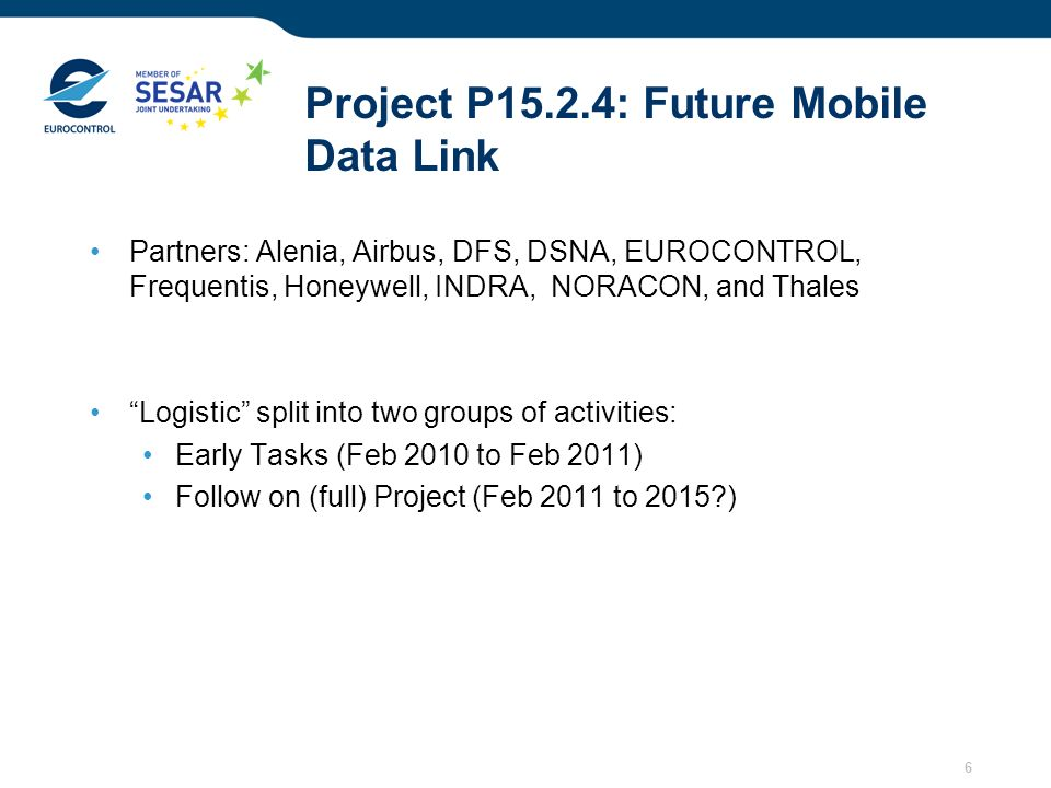 Project P15.2.4: Future Mobile Data Link