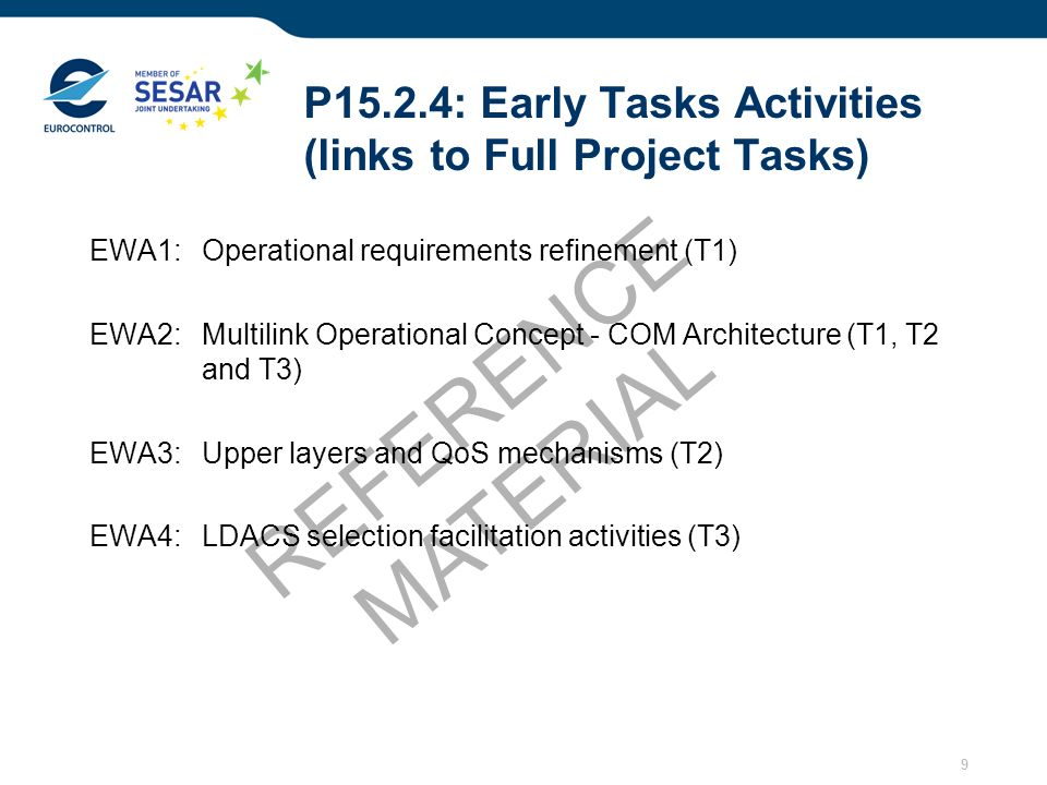 P15.2.4: Early Tasks Activities (links to Full Project Tasks)