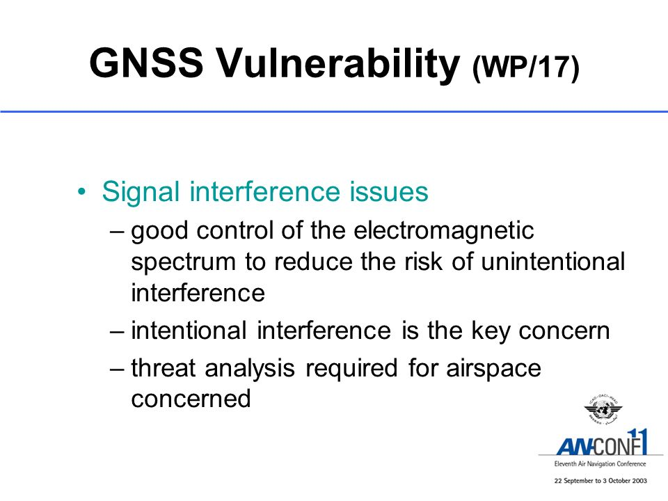 GNSS Vulnerability (WP/17)